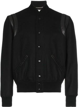 Saint Laurent Varsity wool jacket