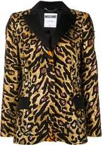 Moschino Tiger poplin blazer