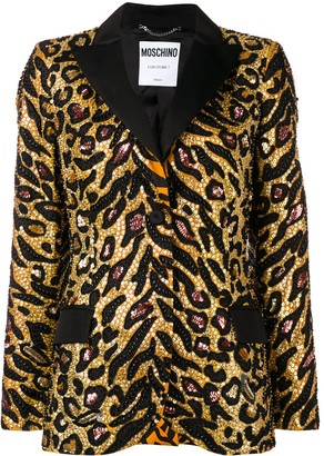 Moschino Tiger sequin-embellished blazer