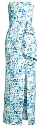 Parker Black Roberta Strapless Floral Dress