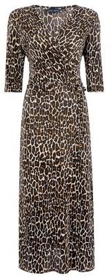 Dorothy Perkins Womens Multi Coloured Leopard Print Midi Dress