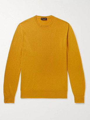 Loro Piana Slim-Fit Baby Cashmere Sweater - Men - Yellow