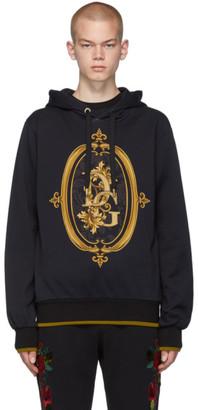 Dolce & Gabbana Black Sacro Logo Hoodie