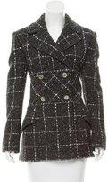 Valentino Wool Tweed Patterned Coat