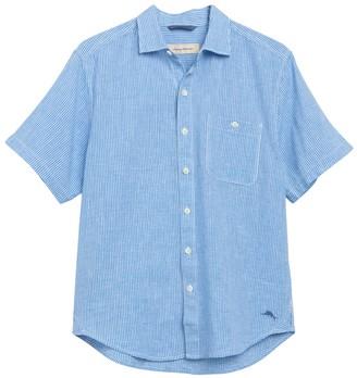 Tommy Bahama Short Sleeve New Sandbar Check Print Shirt