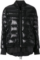 Moncler padded bomber jacket with frill