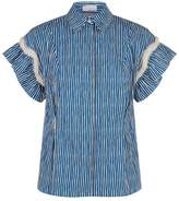 Sandro Striped Pearl Shirt