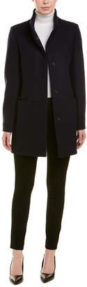 Cinzia Rocca Icons Stand-Up Collar Wool Coat