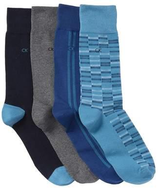 Calvin Klein Birdseye Crew Socks - Pack of 4