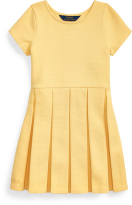 Ralph Lauren Pleated Ottoman-Rib Dress