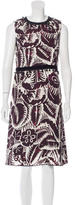Marc Jacobs Abstract Print Embellished Dress