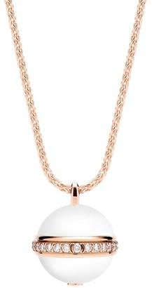 Piaget Possession 18K Rose Gold, Diamond & Chalcedony Pendant Necklace