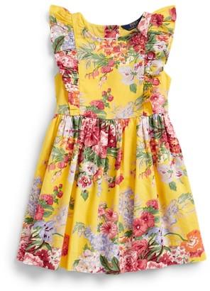 Ralph Lauren Floral Ruffled Cotton Dress