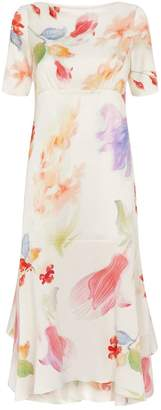 Peter Pilotto Printed Silk Handkerchief Dress