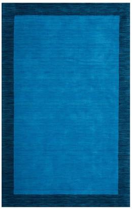 Safavieh Himalaya Collection HIM580 Rug, Light Blue/Dark Blue, 3' X 5'