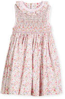 Luli & Me Floral Sleeveless Smock Dress, Size 4-6X