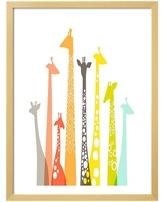 Giraffes by The Paper Nut (Framed)