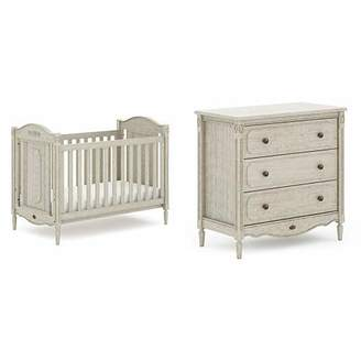 Boori Grace 2 Piece Nursery Room Set, Antiqued Grey