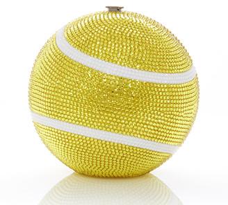 Judith Leiber Sphere Tennis Ball Clutch Bag