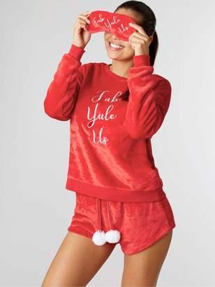 Boux Avenue Christmas Fab Yule Us Twosie And Eye Mask Set