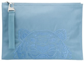 Kenzo Tiger embroidered pouch bag