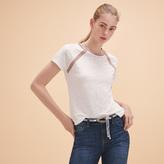 Maje Linen T-shirt with lurex detailing
