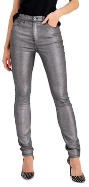 INC International Concepts Inc Metallic-Coated Skinny Ankle Jeans, Created for Macy's