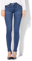 New York & Co. Soho Jeans - Jennifer Hudson Zip-Accent Legging - Rhapsody Wash