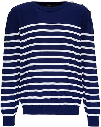 Balmain Striped Cotton Sweater