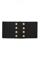 Quiz Black Button Detail Corset Belt