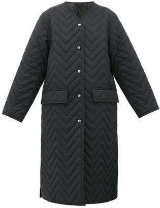 Acne Studios Olivette Chevron-quilted Coat - Womens - Black