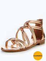 Very Honey Strappy Flat Sandal - Rose Gold