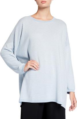 eskandar Round-Neck A-line Knit Sweater