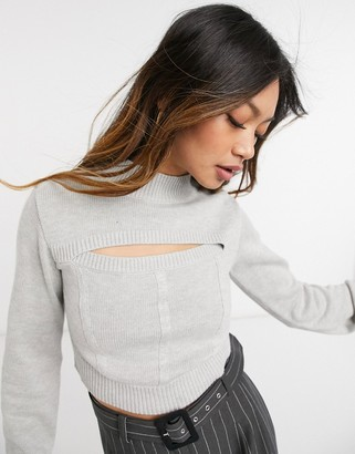 Steele Sadie top in grey