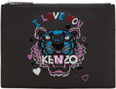 Kenzo Black Limited Edition tiger X I Love You A4 Pouch