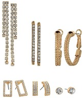 GUESS 6-Pair Earrings Set including Studs, Hoops and Drops