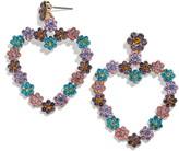 BaubleBar Magnolia Heart Drop Earrings