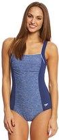 Speedo Women's Endurance+ Texture Square Neck One Piece Swimsuit 8149359