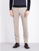 Corneliani Tailored-fit tapered wool-blend trousers