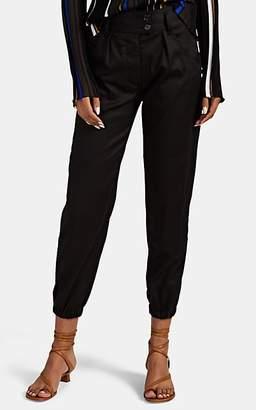 "Nili Lotan Women's ""Military"" Crop Tapered-Leg Pants - Black"