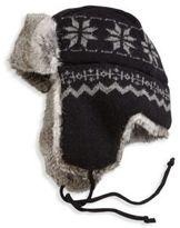 Crown Cap Snowflake Aviator Hat