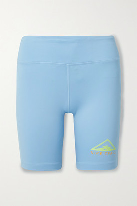 Nike Fast Short Trail Printed Dri-fit Shorts - Light blue