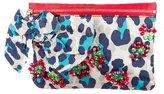 Lanvin Embellished Leopard Print Satin Clutch