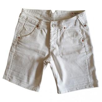 Cycle White Cotton - elasthane Shorts for Women
