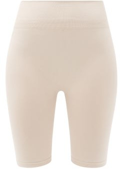 PRISM² Prism - Open Minded High-rise Cycling Shorts - Beige