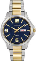 Citizen Mens Two-Tone Stainless Steel Blue Dial Bracelet Watch BF2004-57L
