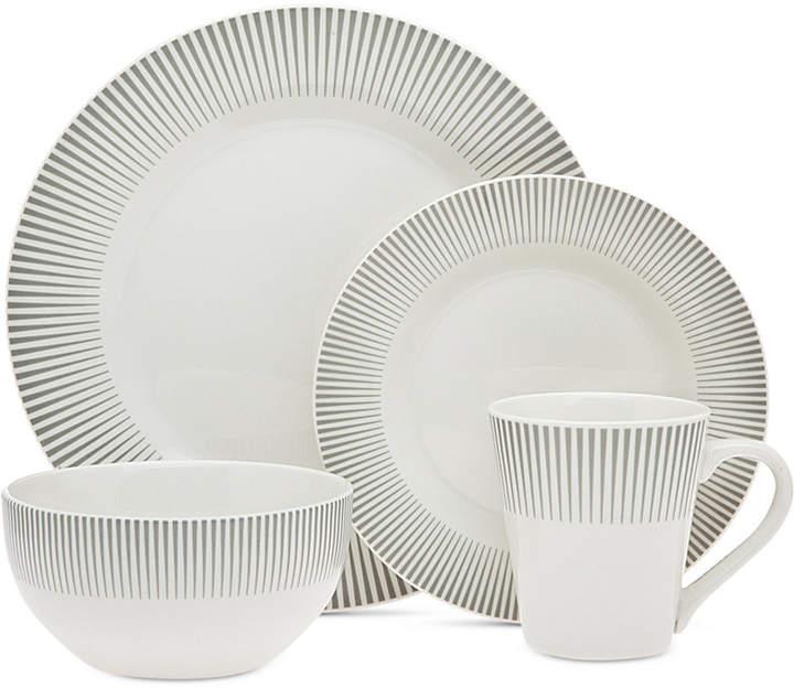 Godinger Closeout! Ravi Gray 16-Pc. Dinnerware Set, Service for 4