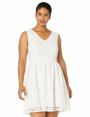 BB Dakota Women's Plus-Size Posey Lace V-Neck Dress