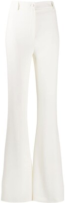 Hebe Studio Plain Flared Trousers