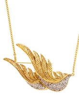 Valentino Bird Crystal Pendant Necklace